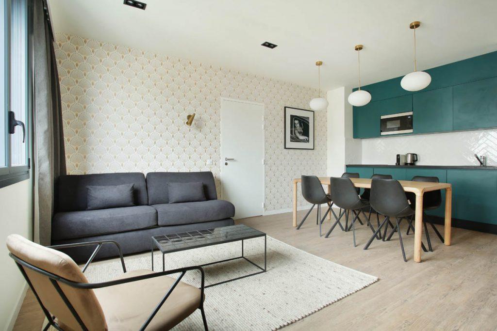 Yays Paris Issy, One Bedroom Comfort, Living Room