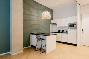YAYS Amsterdam Docklands, One Bedroom Essential Apartment, Kitchen