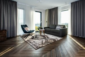 YAYS Amsterdam Docklands, One Bedroom Essential Apartment, Living Room