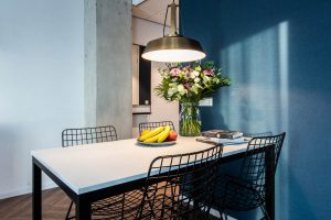 YAYS Amsterdam Docklands, One Bedroom Essential Apartment, Dining Table