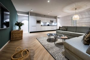 YAYS Amsterdam Docklands, One Bedroom Grand Apartment, Living room