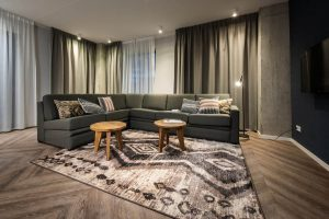 YAYS Amsterdam Docklands, Two Bedroom Apartment, Living room
