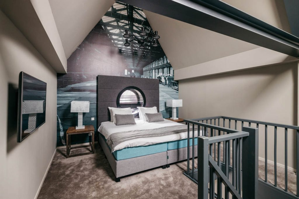YAYS Amsterdam Maritime, Tower Studio, Bedroom