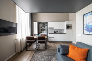 YAYS Amsterdam Maritime, One-Bedroom Apartment, Dining Room